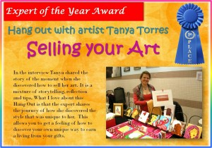 "Expert of the Year Award: Tanya Torres for ""Selling your Art"""