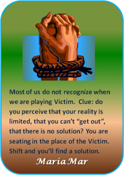 ARTspiration No. 36: Know when you are playing victim