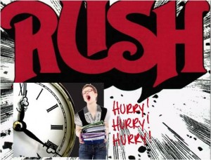 6 Elements of Stressful Living and how to Live and Work Stress Free: Day 2: Rushing